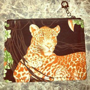 Salvatore Ferragamo Leopard pouch pochette bag
